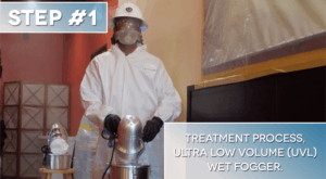 Step #1: Treatment Process, Ultra Low Volume (UVL) Wet Fogger