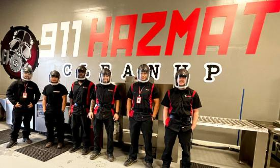 911 Hazmat Cleanup crime scene cleaners in Ripon, CA, team in safety gear